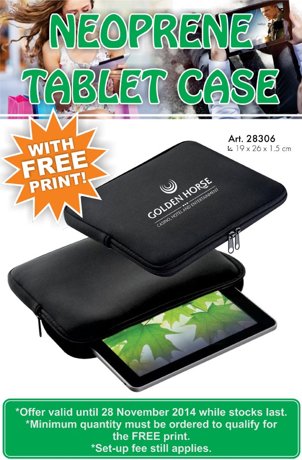 NEOPRENE TABLET CASE WITH FREE PRINT 28-10-2014